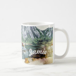 Alaska Bush Plane And Fishing Travel Coffee Mug