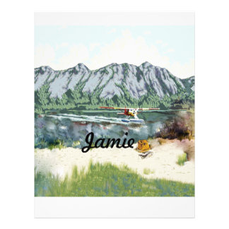 Alaska Bush Plane And Fishing Travel Customized Letterhead