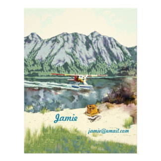 Alaska Bush Plane And Fishing Travel Custom Letterhead