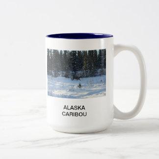 Alaska Caribou Two-Tone Coffee Mug