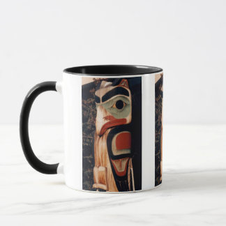Alaska Carved Wood Totem Pole Photo Designed Mug
