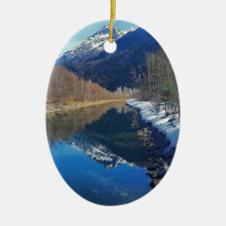 alaska ceramic ornament