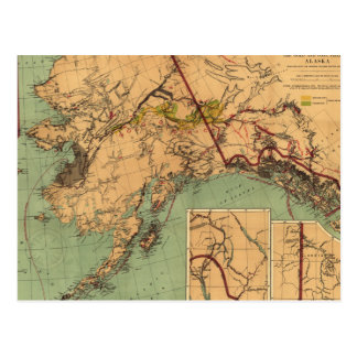 Alaska Coal and Gold Map Postcard
