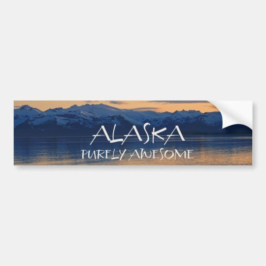 Alaska Coast - Purely Awesome Bumper Sticker