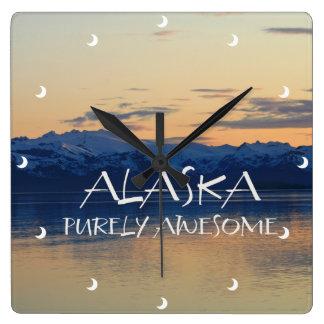 Alaska Coast - Purely Awesome Square Wall Clock