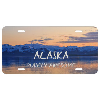 Alaska Coast Sunset - Purely Awesome License Plate