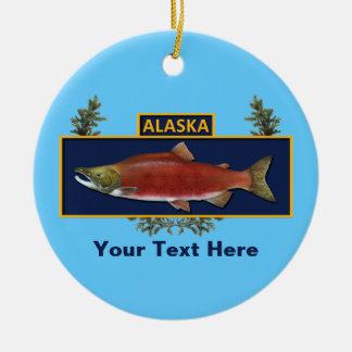 Alaska Combat Fisherman Badge Ceramic Ornament