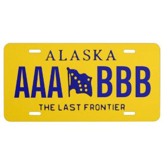 Alaska Custom License Plate