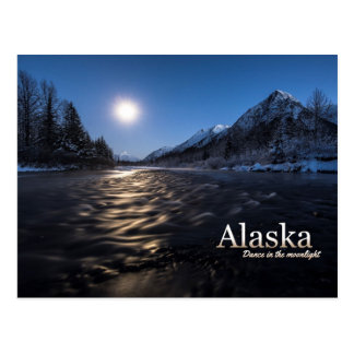Alaska Dance in the Moonlight Postcard