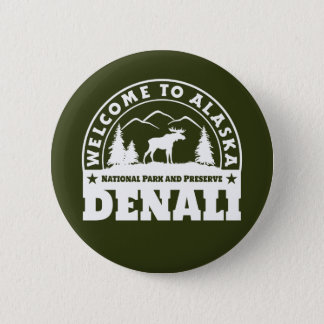 Alaska. Denali National Park and Preserve 2 Inch Round Button