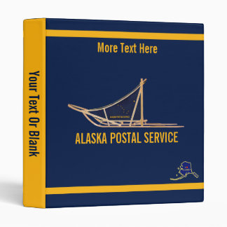 Alaska Dog Sled Postal Carrier Vinyl Binders