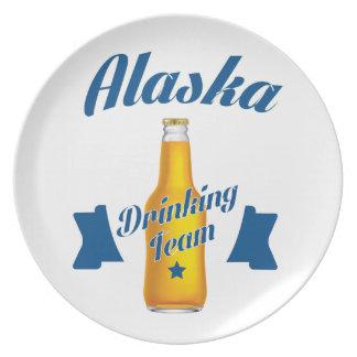 Alaska Drinking team Plates