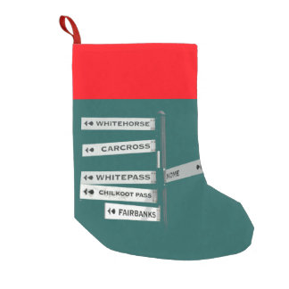 Alaska: exploring the frontier small christmas stocking
