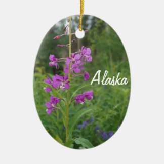 Alaska Fireweed Christmas Ornament