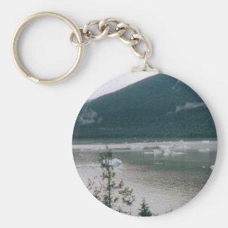 Alaska Fjord Basic Round Button Keychain