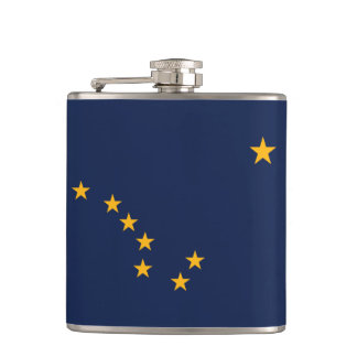 Alaska Flag Hip Flask