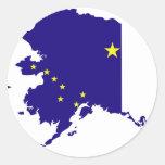 Alaska Flag Map Classic Round Sticker