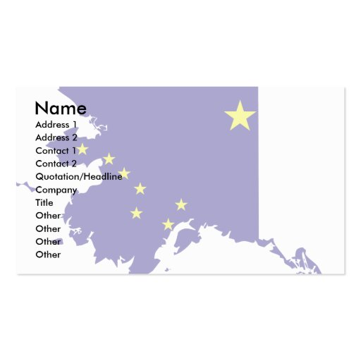 Alaska Flag Map Pack Of Standard Business Cards