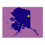 Alaska Flag Map Postcard
