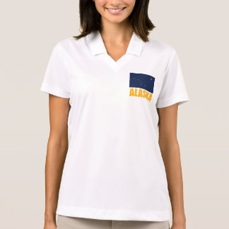Alaska Flag Yellow Text Polo Shirt