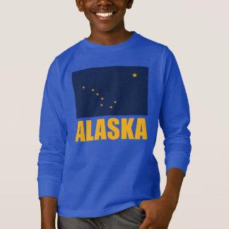 Alaska Flag Yellow Text T-Shirt