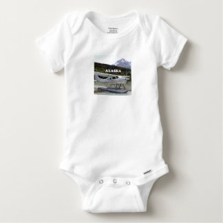 Alaska: Float plane, Trail Lake 3 Baby Onesie