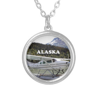 Alaska: Float plane, Trail Lake 3 Silver Plated Necklace