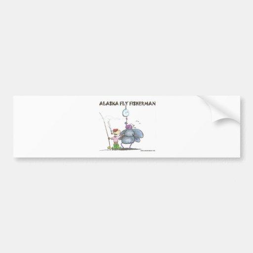 ALASKA FLY FISHERMAN BUMPER STICKERS