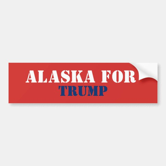 ALASKA FOR TRUMP BUMPER STICKER