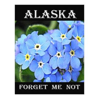 Alaska Forget-Me-Not Custom Letterhead