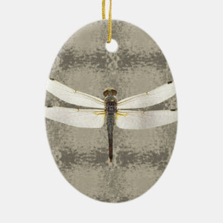 Alaska Four Spot Skimmer Dragonfly Ceramic Ornament