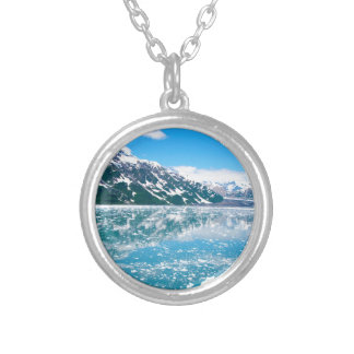Alaska Glasier Silver Plated Necklace