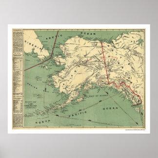 Alaska Gold Fields Map 1897 Poster