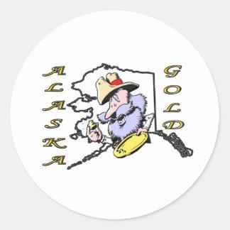 ALASKA GOLD ROUND STICKER