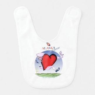 alaska head heart, tony fernandes bib