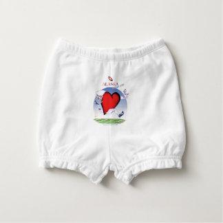 alaska head heart, tony fernandes diaper cover