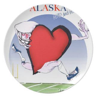 alaska head heart, tony fernandes dinner plates