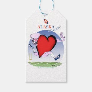 alaska head heart, tony fernandes gift tags
