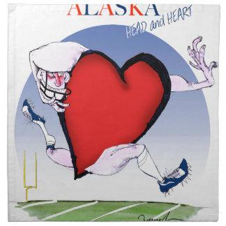 alaska head heart, tony fernandes napkin
