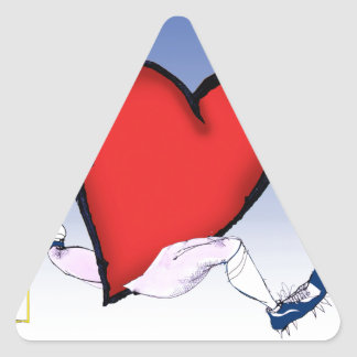 alaska head heart, tony fernandes triangle sticker