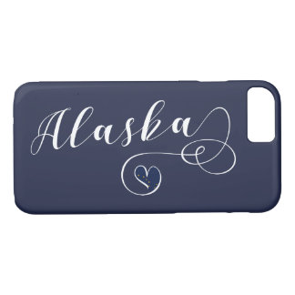 Alaska Heart Mobile Phone Case, Alaskan iPhone 8/7 Case