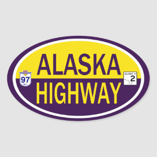 Alaska Highway Oval Sticker