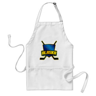 Alaska Ice Hockey Flag Standard Apron