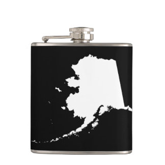 Alaska in Black and White Hip Flask