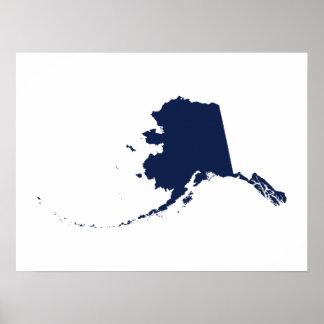 Alaska in Blue Poster