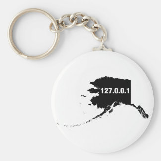 Alaska Is Home Programmer Basic Round Button Keychain