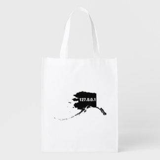 Alaska Is Home Programmer Reusable Grocery Bag
