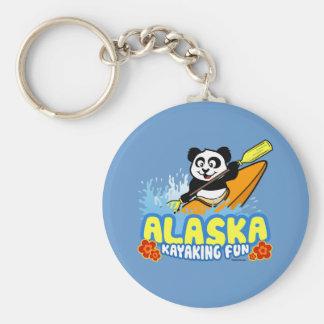 Alaska Kayaking Fun Panda Keychain