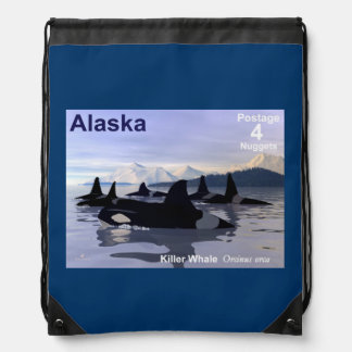 Alaska Killer Whales Stamp Backpack
