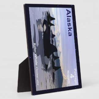 Alaska Killer Whales Stamp Plaque